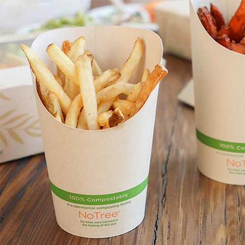 French Fry Cups 5.5 oz NoTree Paper Scoops