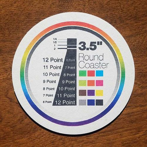 "3.5"" Round Custom Drink Coasters"