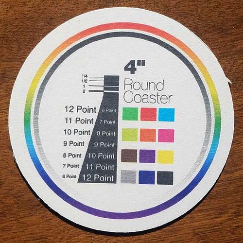"4.0"" Round Custom Drink Coasters"