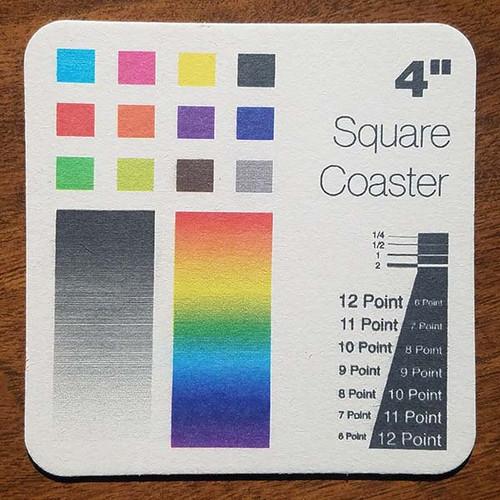 "4.0"" Square Custom Drink Coasters"
