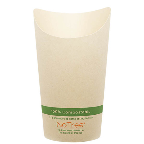 French Fry Cups 7.5 oz NoTree Paper Scoop FC-NT-75