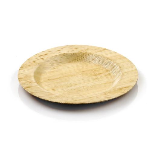 "Bamboo Round Plate 6"" Medium   100 count"