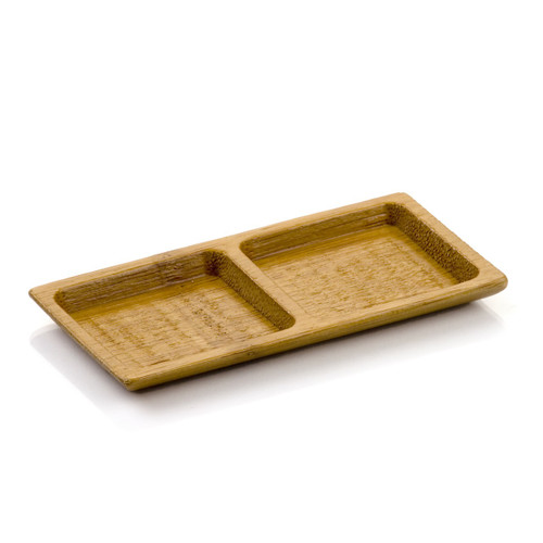 Carved Bamboo Duo Plate 4.75 in. | 100 count