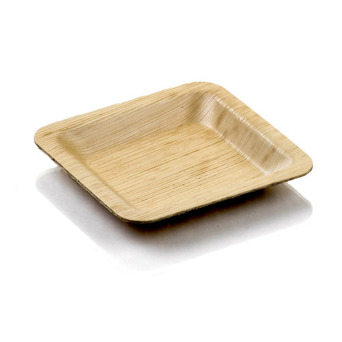 Bamboo Leaf Plate Small 4""