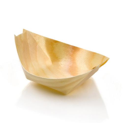 """3.25"""" x 2.25"""" Mini Wooden Boat RWB0155"""