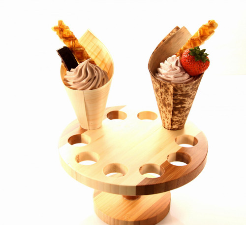Full Moon Bamboo Cone Stand, 10 Slots