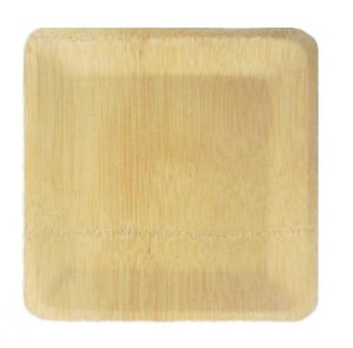 """Bamboo Veneer Square Plate 9"""""""