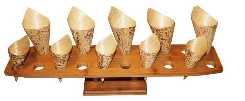 Oblong Bamboo Cone Stand