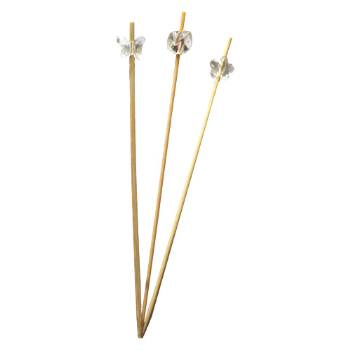 Bamboo Clear Acrylic  Skewer 6 inch
