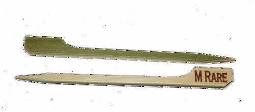 Medium Rare Paddle Skewer 4 inch