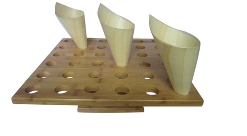 Bamboo Cone Stand, 36 Slots | 1 count