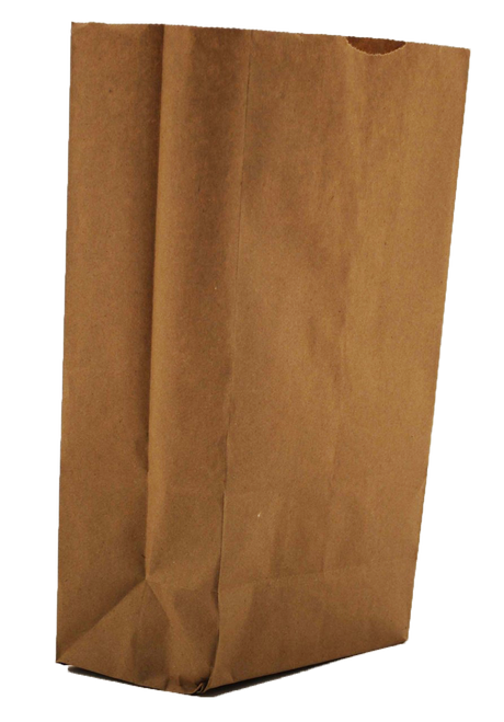 "Recycled Paper Bags - 7 1/16"" x 4 1/2"" x 13 3/4"" 
