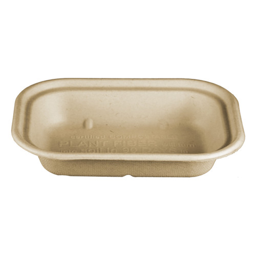 Compostable 8 x 6 takeout food tray