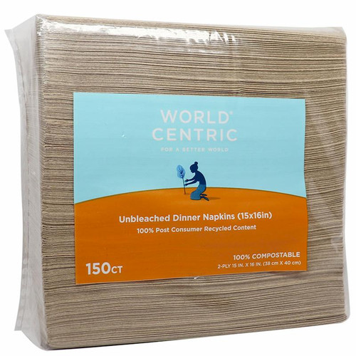 NP-SC-DN Unbleached recycled paper napkins
