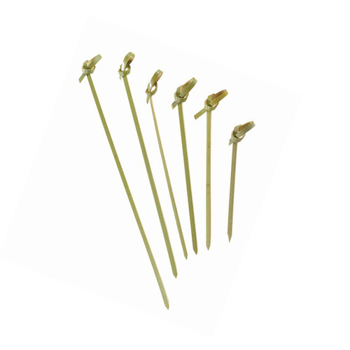 """NOSHI"" Bamboo Looped Skewer - 2.8"" 