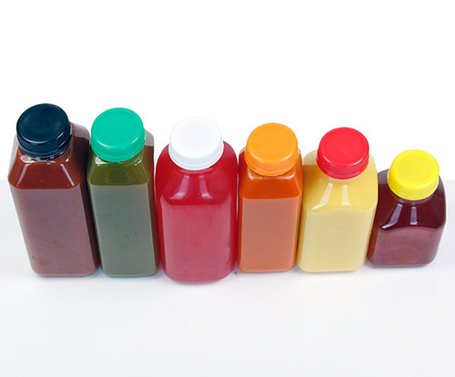 multi-color juice bottle caps