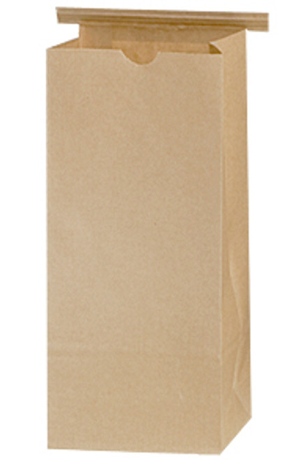 """Coffee Bag, (1/2#) - 3.375"""" x 2.5"""" x 7.75"""" w/PLA liner