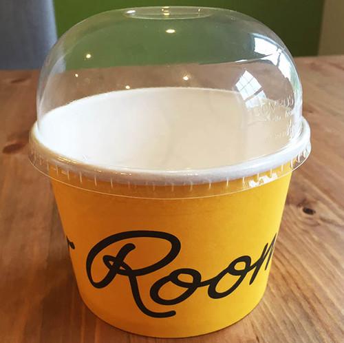 Domed Lid for 8 oz Paper Bowls BOL-CS-8D