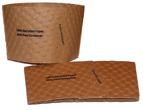 Recycled Cup Sleeves to Fit 8 Ounce Cup    Sample