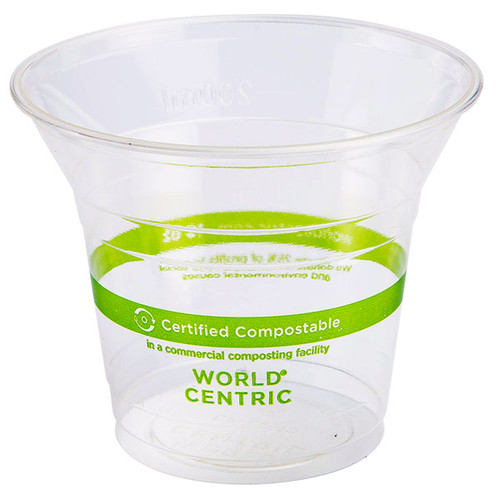 World Centric  10 oz Compostable Cold Cup | PLA | Sample