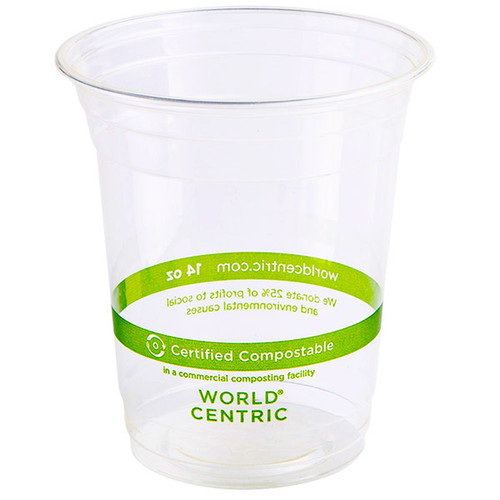 14 oz Compostable Cold Cup PLA Sample