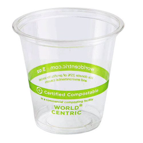 3 oz Compostable Cold Cup | PLA | Sample