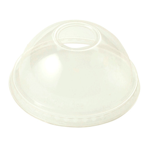 PLA Dome Lid | Straw Hole | Fits 9Q to 24 oz Cold Cup | Sample