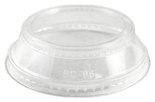 Sample Clear Lid with Souffle Holder for 9 oz-24 oz Cups