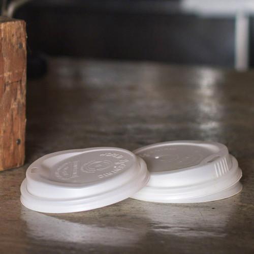 CPLA Lid   Compostable Corn Plastic   Fits 10-20 oz Hot Cup   Sample