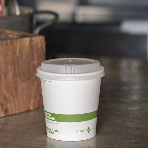 10 oz White Compostable Coffee Cups  | Sample