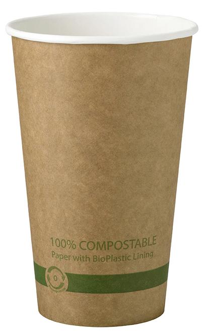 16 oz Kraft Paper Cups Sample