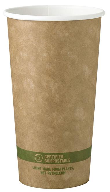 20 oz Kraft Paper Cups  | Sample