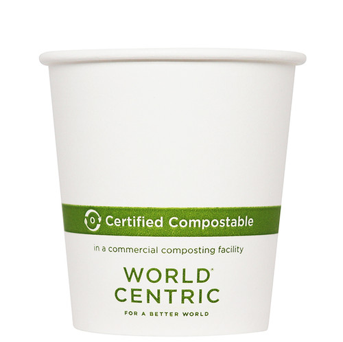 4 oz White Compostable Coffee Cups