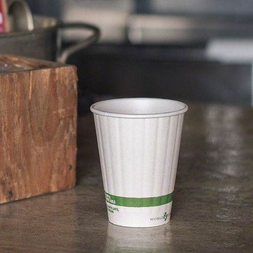 8 oz Double Wall Compostable Hot Paper Cups    Sample