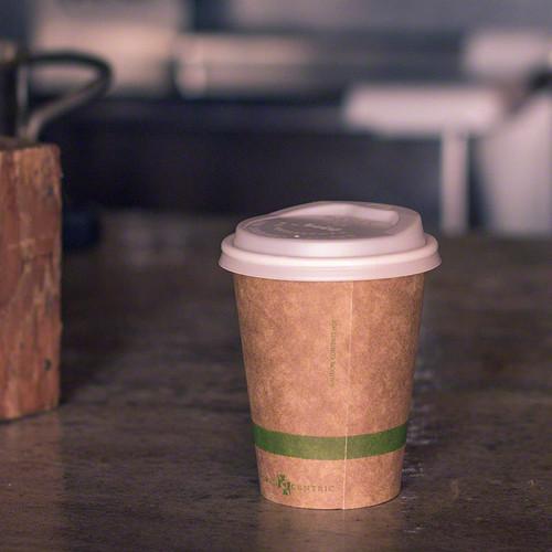 8 oz Kraft Compostable Hot Cup | Paper |Sample