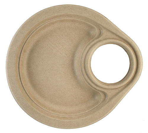 """9"""" Fiber Party Plate with Cup Holder   Sample"""