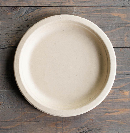 "Compostable 7"" Fiber Round Plate"