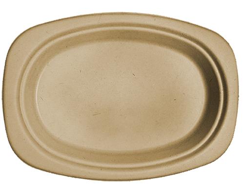 "9"" Fiber Oval Plate"