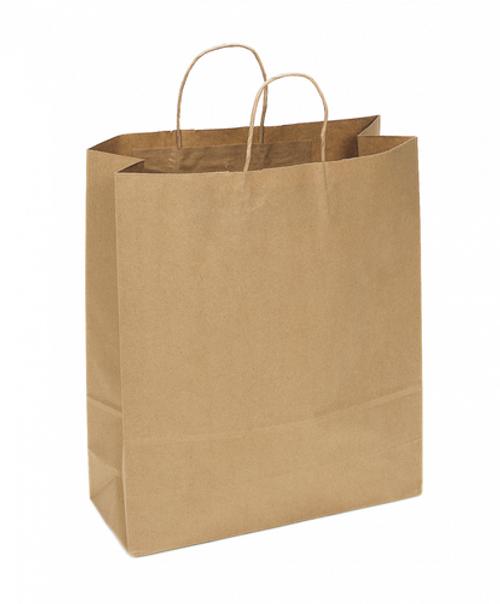 Kraft Recycled Shopping Bag   16 x 6 x 19   Sample