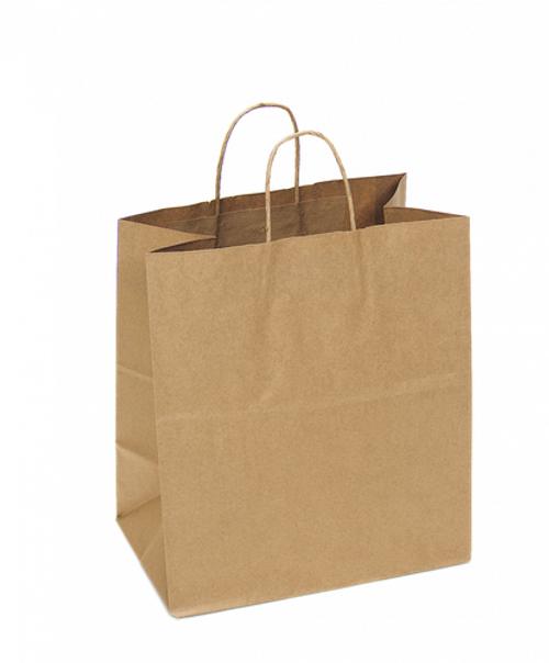 Kraft Recycled Shopping Bag   14.5 x 9 x 16.25   Sample