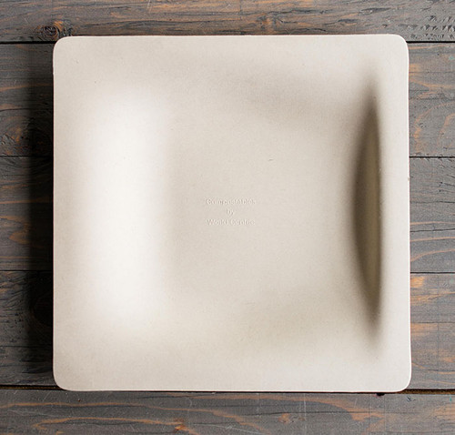 "9"" Fiber Square Plate | Sample"