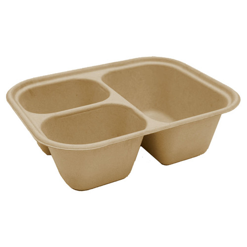 3 Compartment Fiber Tray | 10 x 7.5 x 3 | Sample