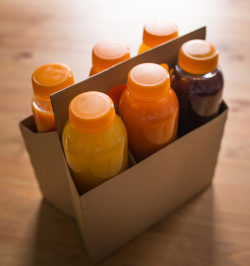 6 Pack Kraft Bottle & Can Carrier CBC-6KRAFT