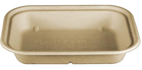 Fiber Tray | PLA Lined | 10 x 7.5 x 1.5 | Sample