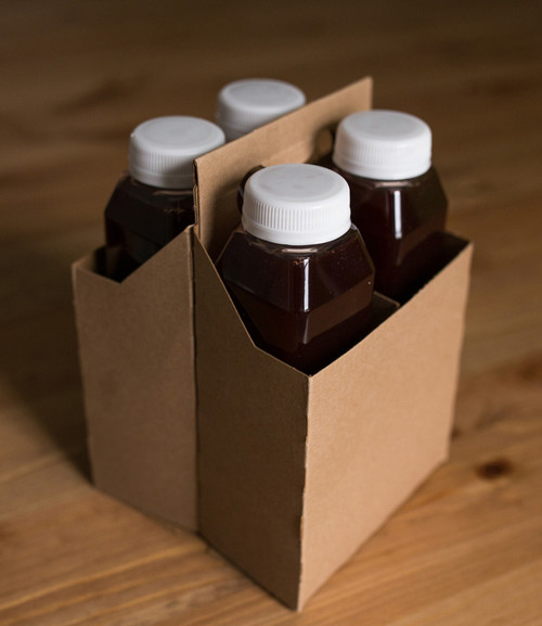 4 Pack Bottle Carrier | Kraft | Sample