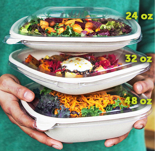 48 oz Fiber Square Bowl BQ-SC-48