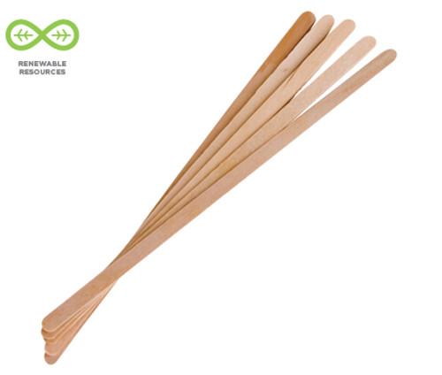 """Renewable Wooden Stir Sticks 7"""""""