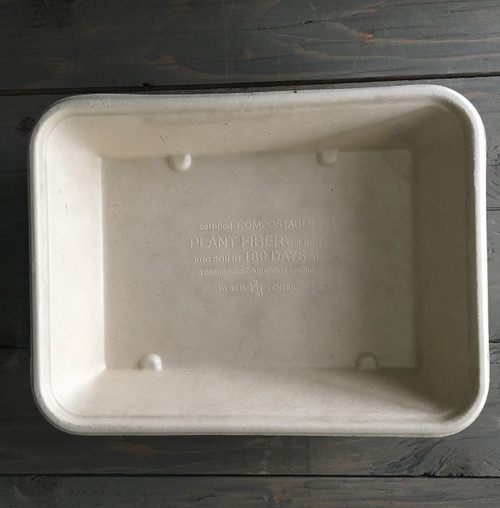 Fiber Tray | 9.4 x 7.1 x 1.8 | 36 oz |Sample