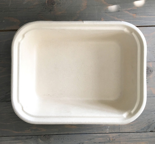 1 Compartment Fiber Tray | 60 oz | 10 x 7.5 x 2.5 | 400 count