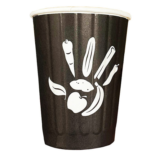 """12 oz """"Be Choosy"""" Double Wall Coffee Cups   1000 count"""